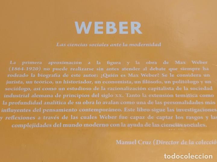 Libros: WEBER / LAS CIENCIAS SOCIALES.../ DESCUBRIR LA FILOSOFÍA / 48 / PRECINTADO. - Foto 2 - 227155930