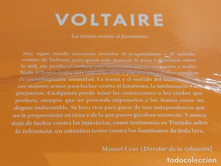 Libros: VOLTAIRE / LA IRONÍA CONTRA EL FANATISMO / DESCUBRIR LA FILOSOFÍA / 31 / PRECINTADO. - Foto 2 - 227166560