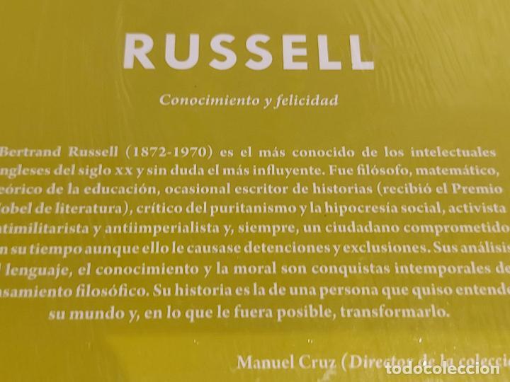Libros: RUSSELL / CONOCIMIENTO Y FELICIDAD / DESCUBRIR LA FILOSOFÍA / 35 / PRECINTADO. - Foto 2 - 227203260