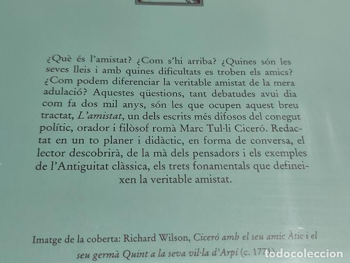 Libros: CICERÓ / LAMISTAD (LELI) / BERNAT METGE ESSENCIAL / 8 / PRECINTADO A ESTRENAR. - Foto 2 - 227228335