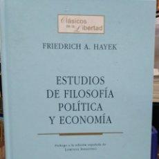 Libros: ESTUDIOS DE FILOSOFÍA POLÍTICA Y ECONÓMIA-FRIEDRICH A.HAYEK-EDITA UNIÓN,2007. Lote 228432555