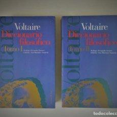Libros: VOLTAIRE. DICCIONARIO FILOSÓFICO. 2 TOMOS. Lote 228638845