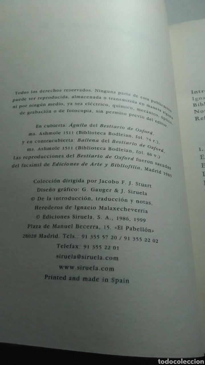 Libros: Bestiario medieval. Ediciones Siruela. Biblioteca Medieval. 1986. 1999 - Foto 6 - 228653625