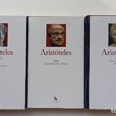 Libros: ARISTÓTELES, COLECCIÓN GRANDES PENSADORES, GREDOS. 3 TOMOS (COMPLETA).. Lote 229532415