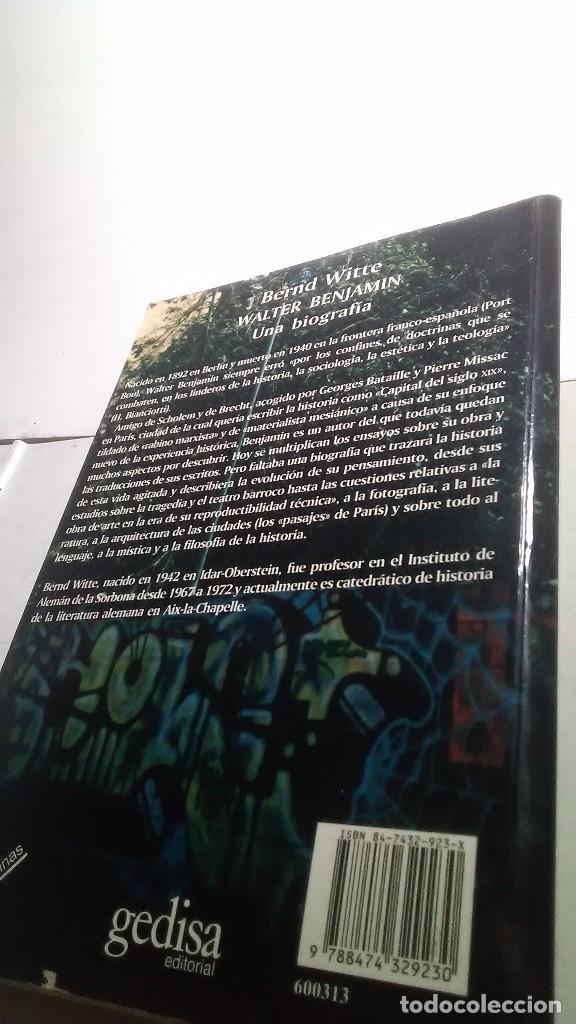 Libros: Walter Benjamín. Una biografía. Bernd Witte. Gedisa editorial. 2002 - Foto 2 - 232378085