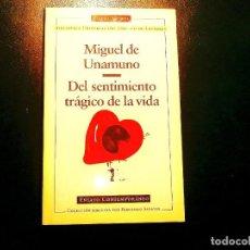 Libros: UNAMUNO: DEL SENTIMIENTO TRÁGICO DE LA VIDA - CÍRCULO DE LECTORES. Lote 239872340