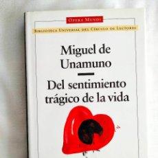 Libros: UNAMUNO: DEL SENTIMIENTO TRÁGICO DE LA VIDA - NUEVO. Lote 240037260