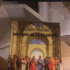 Libros: HISTORIA DE LA FILOSOFÍA - JULIÁN MARÍAS. Lote 240079145