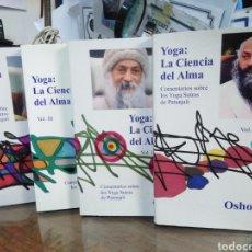 Livros: YOGA:LA CIENCIA DEL ALMA-4 TOMOS COMPLETO SUBRAYADOS,OSHO-MIRAR FOTOS SUBRAYADO. Lote 240148055
