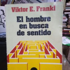 Livros: EL HOMBRE EN BUSCA DE SENTIDO-VIKTOR E.FRANKL-EDITA HERDER 1990. Lote 242108890