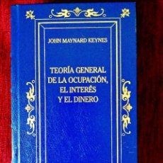 Libros: KEYNES: TEORÍA GENERAL DE LA OCUPACIÓN, EL INTERÉS Y EL DINERO - NUEVO. Lote 243220420