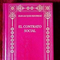 Libros: ROUSSEAU: EL CONTRATO SOCIAL. DISCURSO SOBRE EL ORIGEN DE LA DESIGUALDAD - NUEVO. Lote 243220735