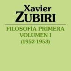 Libros: FILOSOFÍA PRIMERA (1952-1953). Lote 243773010