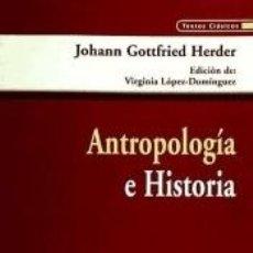 Libros: ANTROPOLOGÍA E HISTORIA. Lote 243955985