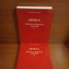Libros: SÉNECA - EPÍSTOLAS MORALES A LUCILIO - BIBLIOTECA CLÁSICA GREDOS 2016. Lote 252791605