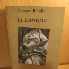 Livros: GEORGES BATAILLE. EL EROTISMO. Lote 253276645