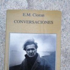 Livros: CIORAN CONVERSACIONES. Lote 254815030