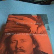 Livres: CRÍTICA DE LA RAZÓN CÍNICA. PETER SLOTERDIJK. SIRUELA. 2007. Lote 255620610