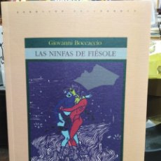 Libros: LAS NINFAS DE FIOSOLE-GUIOVANNI BOCCACCIO-EDITA GREDOS-1997. Lote 257458010