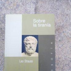 Livros: LEO STRAUSS SOBRE LA TIRANIA. Lote 257879755