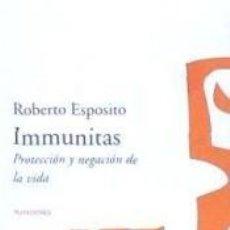 Libros: IMMUNITAS. Lote 261600635