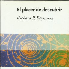 Libros: EL PLACER DE DESCUBRIR / RICHARD FEYNMAN.. Lote 261935530