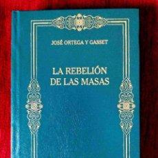 Libros: ORTEGA: LA REBELIÓN DE LAS MASAS - NUEVO. Lote 263190355