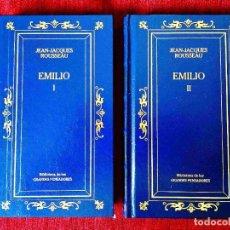 Libros: ROUSSEAU: EMILIO (2 VOLS.) - NUEVO. Lote 263192445