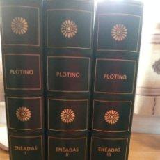 Libros: PLOTINO. ENEADAS (EDITORIAL GREDOS). Lote 268874129
