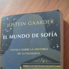 Libros: EL MUNDO DE SOFIA GAARDER, JOSTEIN. SIRUELA, 1994. Lote 269317683