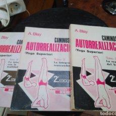 Livros: CAMINOS DE AUTORREALIZACION(YOGA SUPERIOR)3 TOMOS COMPLETO-A.BLAY-EDITA CEDEL 1982. Lote 275234218