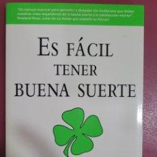 Libros: ES FACIL TENER BUENA SUERTE. Lote 277201083