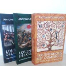 Libros: LOS ENEMIGOS DEL COMERCIO - ANTONIO ESCOHOTADO - TOMO I - TOMO II - TOMO III. Lote 277232538