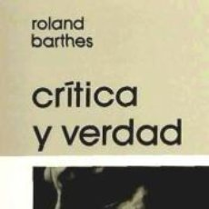 Libros: CRÍTICA Y VERDAD. Lote 277421468