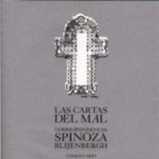 Libros: LAS CARTAS DEL MAL: CORRESPONDENCIA SPINOZA-BLIJENBERGH. Lote 277421528