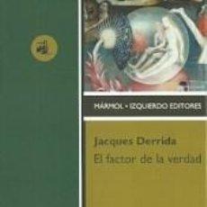 Libros: EL FACTOR DE LA VERDAD. Lote 277421893