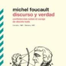 Libros: DISCURSO Y VERDAD. Lote 277421948
