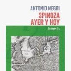 Libros: SPINOZA AYER Y HOY. Lote 277421973