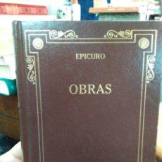 Libri: OBRAS/EPICURO-EDITA GREDOS 2007. Lote 286470063