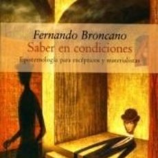 Libros: SABER EN CONDICIONES. Lote 287241988