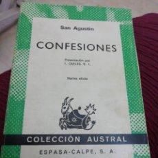 Libros: CONFESIONES, SAN AGUSTÍN. Lote 287623563