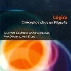 Libros: LÓGICA. Lote 289201173