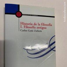 Libros: HISTORIA DE LA FILOSOFÍA.I. FILOSOFÍA ANTIGUA.EDI. PALABRA.VER FOTOS, 3,92 ENVÍO CERTIFICADO.. Lote 289903188