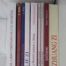 Libros: TÍTULOS DE EDITORIAL KAIROS, SOBRE FILOSOFÍA DE ORIENTE. Lote 295621203