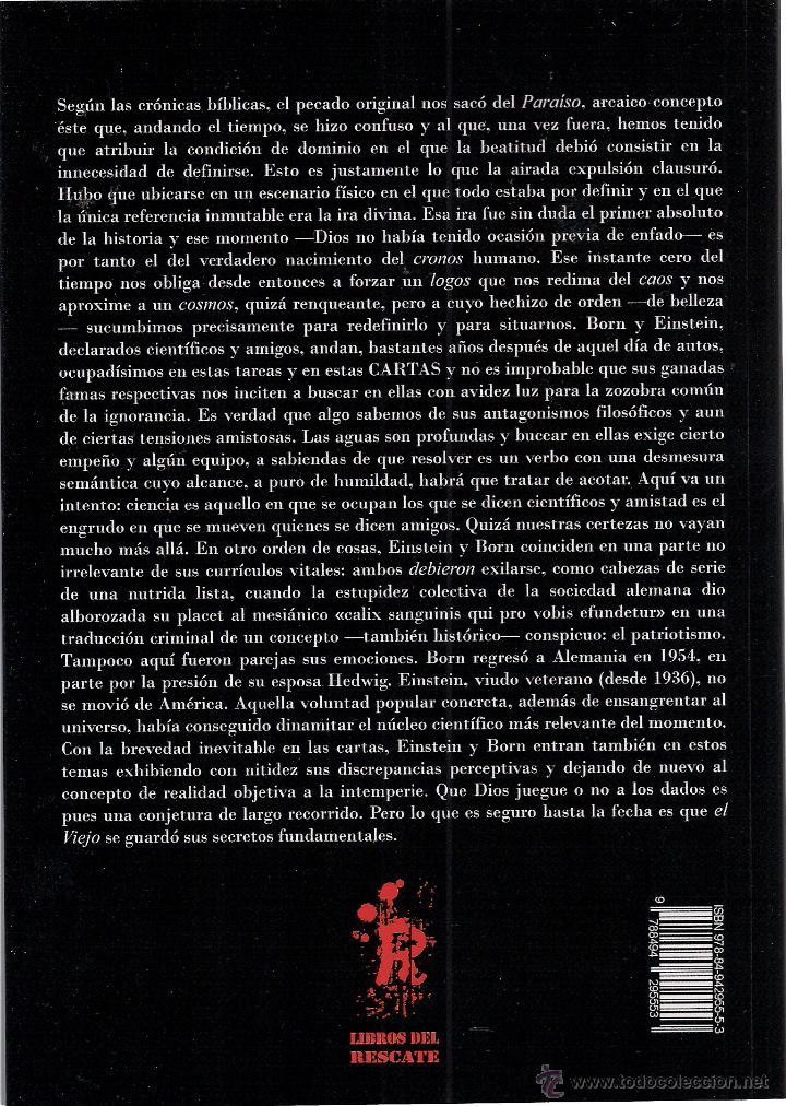 Libros: JAVIER TURRIÓN: ALBERT EINSTEIN-MAX BORN. CARTAS (1916-1955). Y algunos aledaños. (STI Ediciones) - Foto 2 - 51567641
