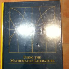 Libros: USING THE MATHEMATICS LITERATURE FOWLER, KRISTINE K. (ED.) MARCEL DEKKER 9780824750350. Lote 51135435