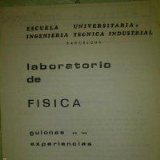 Libros: PRACTICAS FISICA ESCUELA INGENIERIA TECNICA ELECTRONICA 86. Lote 80238437