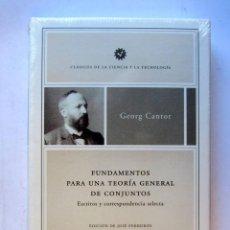 Libros: FUNDAMENTOS PARA UNA TEORÍA GENERAL DE CONJUNTOS. GEORG CANTOR. CLÁSICOS DE LA CIENCIA Y LA TECNOLOG. Lote 106742427
