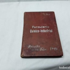Libros: FORMULARIO QUÍMICO INDUSTRIAL. Lote 118143539