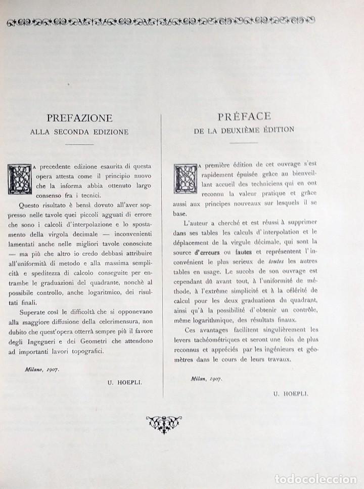 Libros: CALCOLO TACHEOMETRICO SEMPLIFICATO = LE CALCUL TACHÉOMÉTRIQUE SIMPLIFIÉ / G. SANFELICI. 1941. - Foto 2 - 127241227